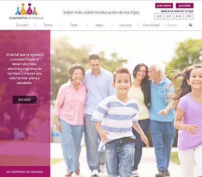 Web de Santillana compartir en familia